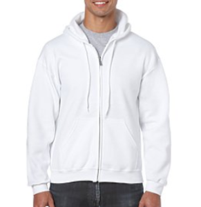 Zippered Hooded Sweatshirt